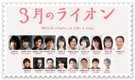 3月のライオン-映画キャスト評判